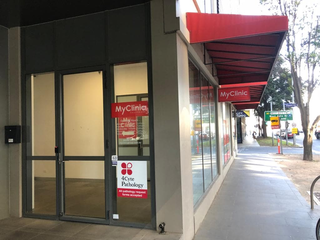 Entrance to MyClinic Group in Southbank, Doctors in Melbourne