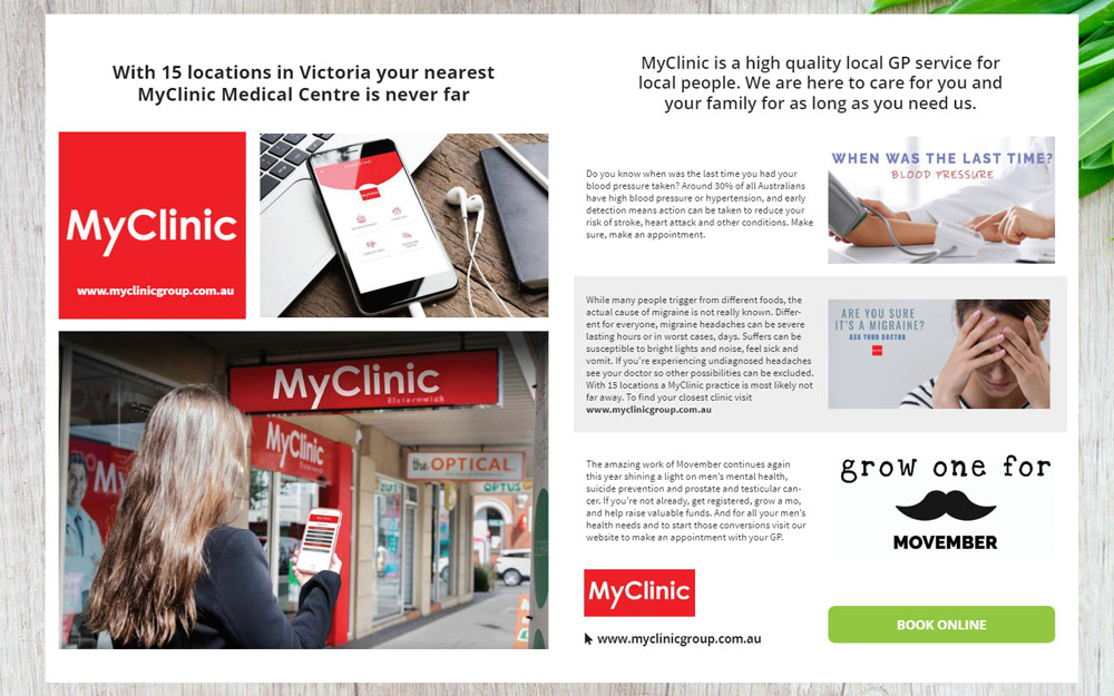 Thrive Magazine MyClinic Group featured pages
