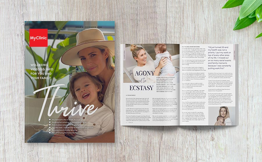 Thrive Health and Wellbeing Magazine featuring MyClinic medical centres